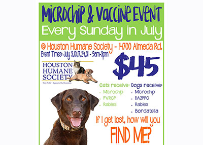 Houston Humane Society - Hurricane Prep Clinic 7-3
