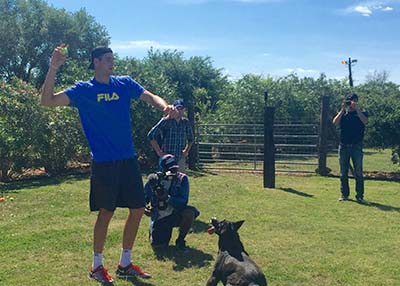 Houston Humane Society John Isner visits HHS