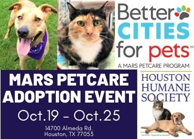 Houston Humane Society - MARS PetCare #BetterCitiesForPets Annual Adoption Event