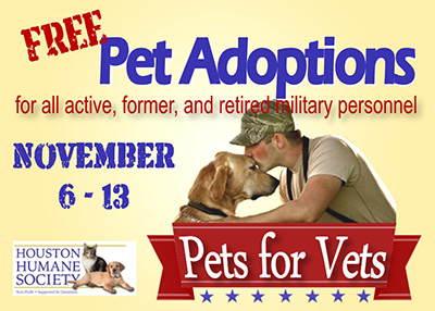 Houston Humane Society - Pets For Vets