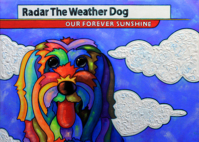 Houston Humane Society Radar Remembered in Painting to Benefit HHS