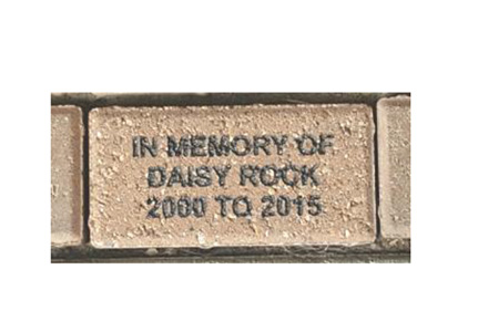 Tribute Brick Houston Humane Society