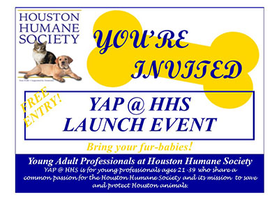 Houston Humane Society - YAP@HHS 'Opening Day'